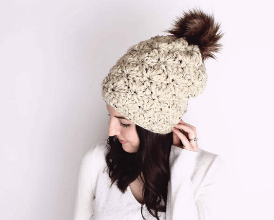 Madison Slouchy Beanie Crochet Pattern by Darling Be Brave