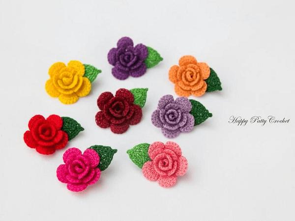 Mini Flower Crochet Pattern by Happy Patty Crochet