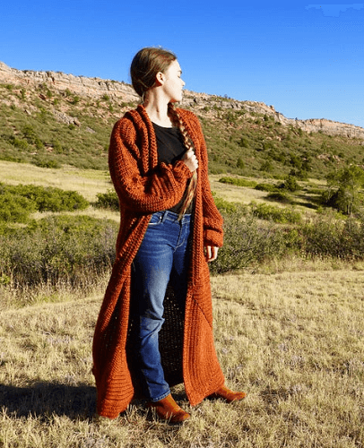 Mountain Harvest Cardigan Crochet Pattern by Colorado Shire
