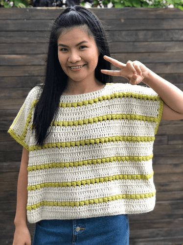 Over Size Crochet Top Pattern by Knit Cro Addict