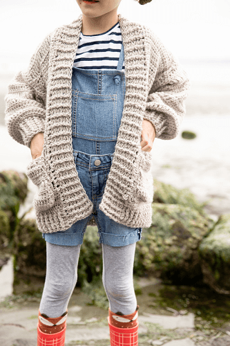 Oversized Free Crochet Cardigan Pattern by Delia Creates