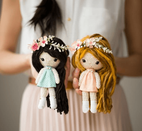 Primrose Crochet Dolls Pattern by All About Ami