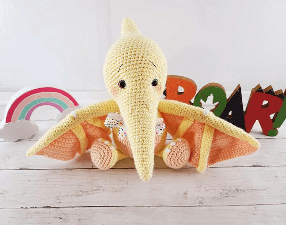 Pterodactyl Dinosaur Amigurumi Pattern by Sweet Oddity Art