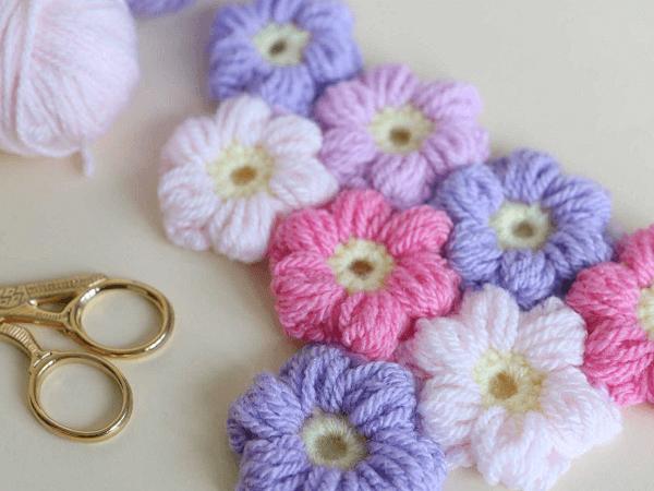 Puff Flower Free Crochet Pattern by Bella Coco Crochet