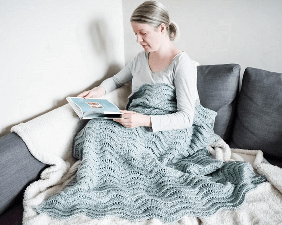 Quiet Ripple Crochet Lap Blanket Pattern by Only nAs Brave