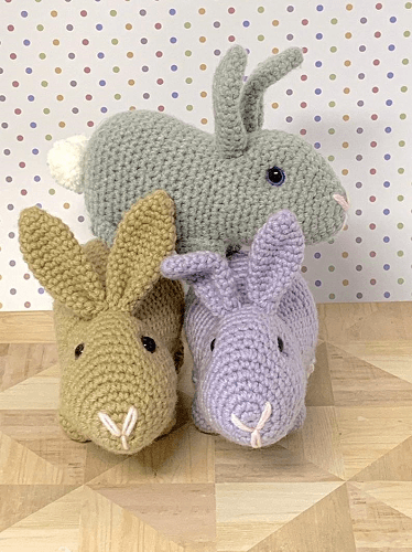 Realistic Crochet Rabbit Pattern by Soft Strings Gift Shop