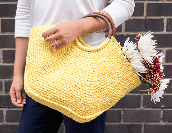 Riviera Tote Crochet Pattern by One Dog Woof