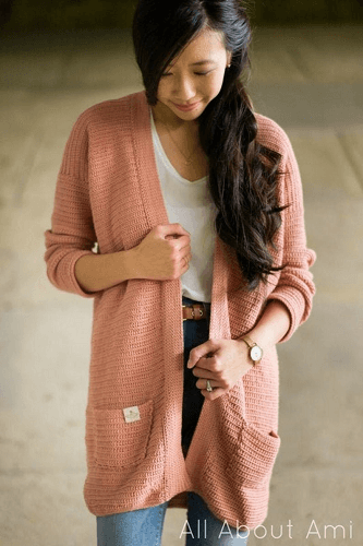 Rosewood Crochet Cardigan Pattern by All About Ami