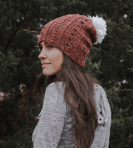 Simple Slouchy Beanie Crochet Pattern Free by Megmade With Love