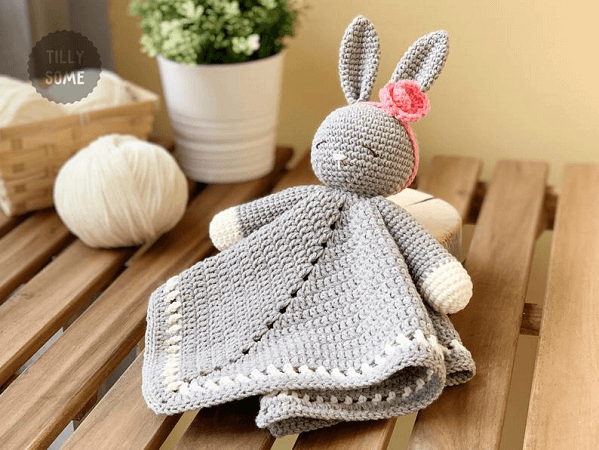 Sleepy Bunny Lovey Crochet Pattern by Tilly Some