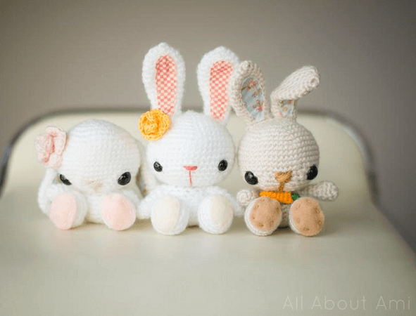 Spring Bunnies Crochet Pattern by All About Ami