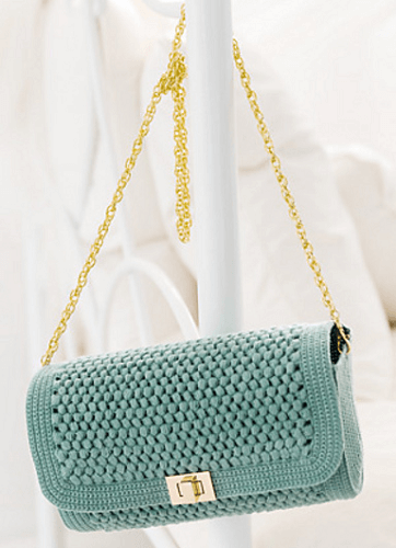 Square Flap Shoulder Bag Crochet Pattern by Pierrot