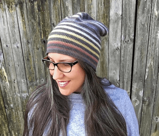 Striped Slouchy Beanie Crochet Pattern by Knit And Crochet Evr Aft