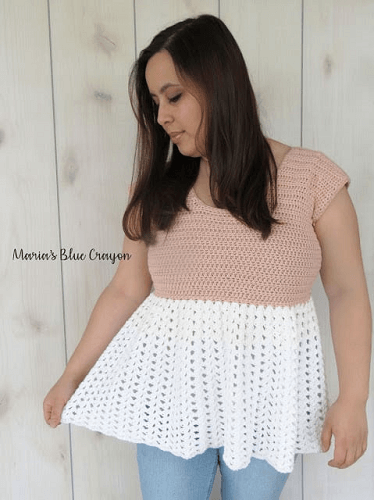 Talulah Top Crochet Pattern by Maria's Blue Crayon