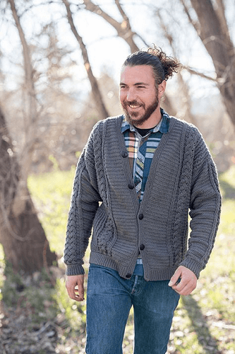 Temescal Cardigan Crochet Pattern by Peter Franzi