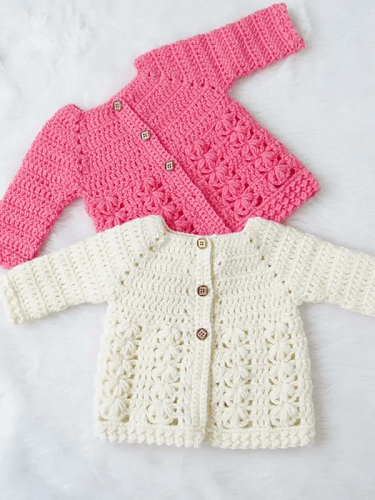Textured Crochet Baby Sweater Pattern by Crochet Dreamz