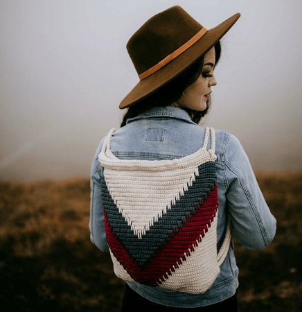 Wanderlust Chevron Backpack Free Crochet Pattern by A Crocheted Simplicity