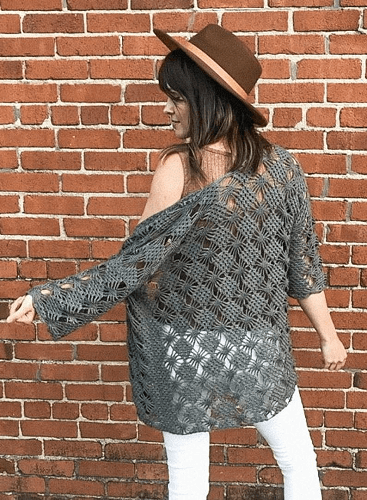 Webwork Crochet Cardigan Pattern by Megmade With Love
