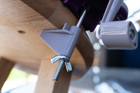 yarn winder table clamp from Hearthookhome