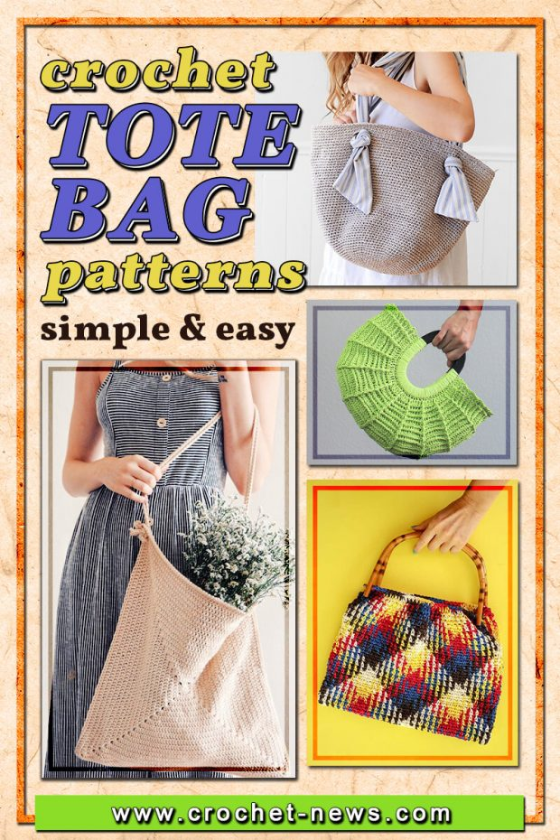 CROCHET TOTE BAG PATTERNS SIMPLE AND EASY