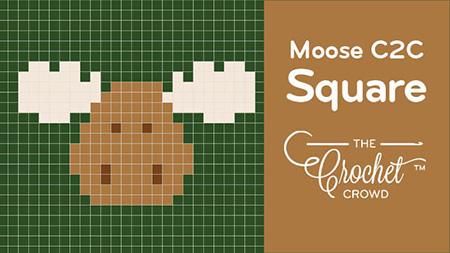Crochet Moose Corner to Corner Blanket By Crochet Crowd