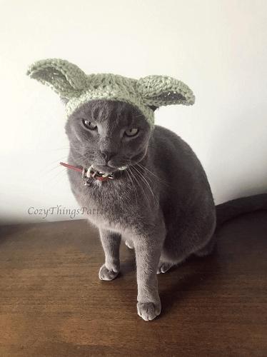 Alien Cat Hat Crochet Pattern by Cozy Things Patterns