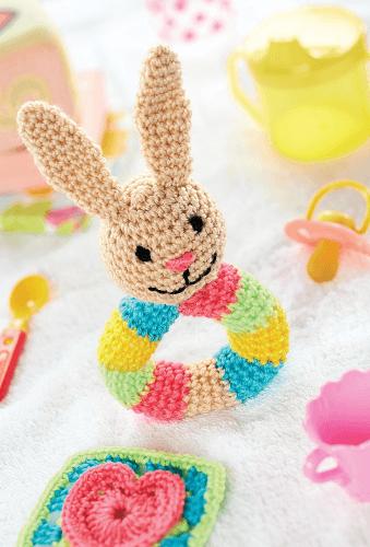 Baby Bunny Rattle Crochet Pattern by Christine Harvey