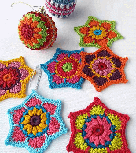 Christmas Crochet Stars Free Pattern by Annie Design Crochet