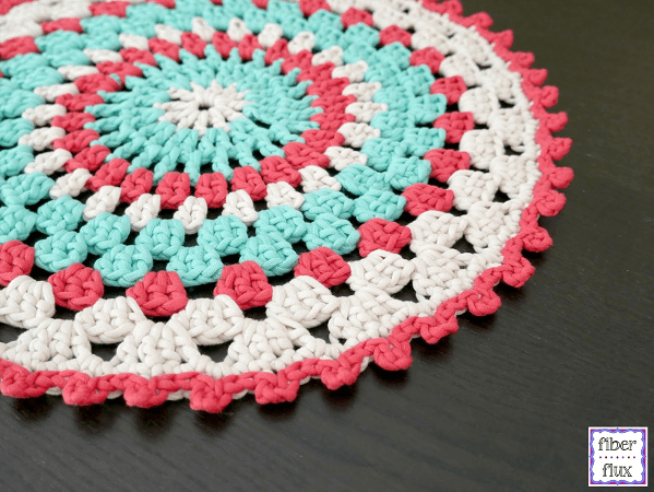 Coastal Placemat Crochet Pattern by Fiber Flux