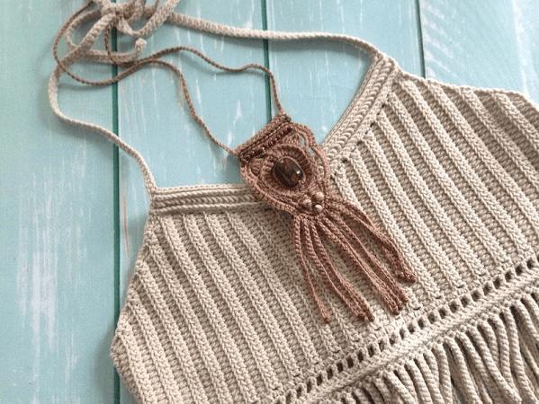 Crochet Boho Necklace Pattern by Lessia Little Adventure