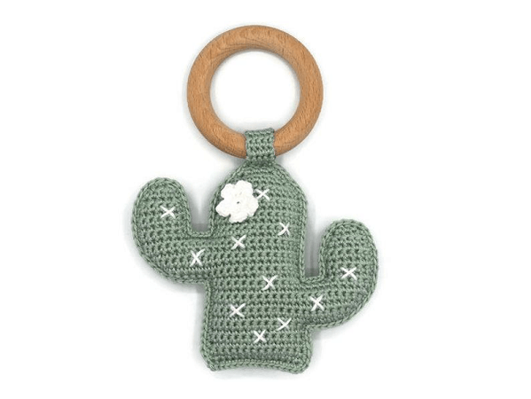 Crochet Cactus Rattle Pattern by KNUFL