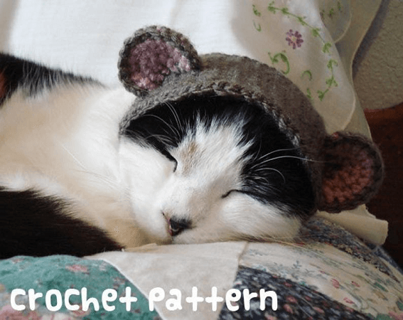 Crochet Cat Hat Costume Pattern by Xmoon Bloom