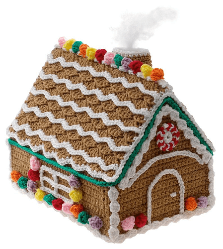 Crochet Christmas Gingerbread House Pattern by Gourmet Crochet