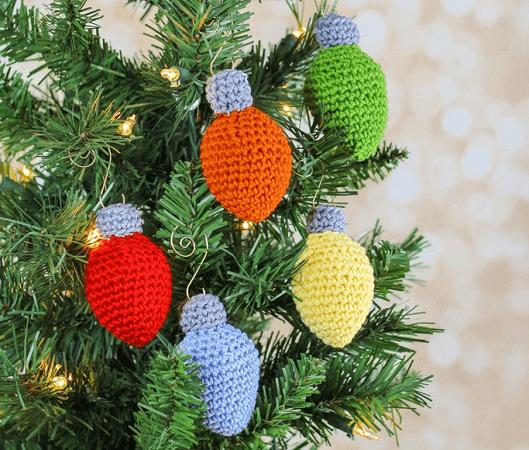 Crochet Christmas Lights Ornament Pattern by Sewrella