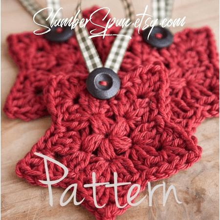 Crochet Christmas Star Pattern by Slumber Spun