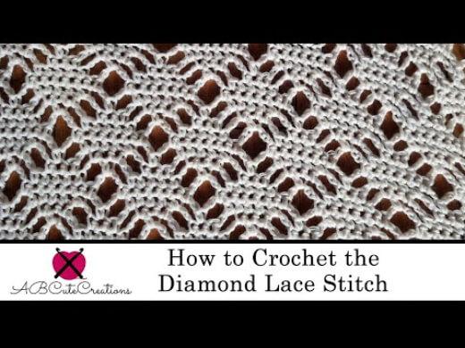 crochet diamond lace stitch tutorial