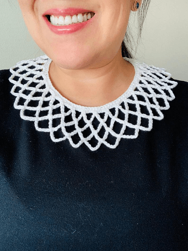 Crochet Dissent Collar Necklace Pattern by Tobey Time Crochet