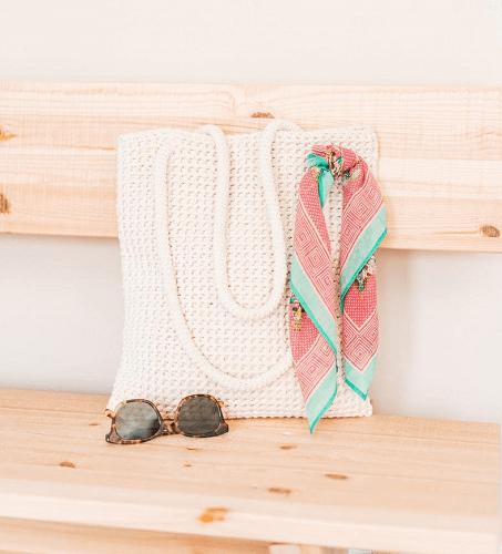 Crochet Fraiche Tote Bag Pattern by Sewrella