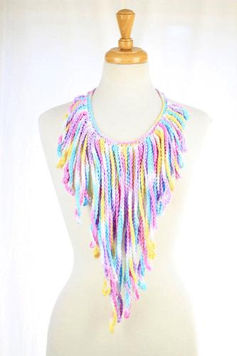 Crochet Fringe Necklace Pattern by Mademoiselle Mermaid