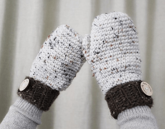 Crochet Helena Mittens Pattern by Naturally Nora Crochet
