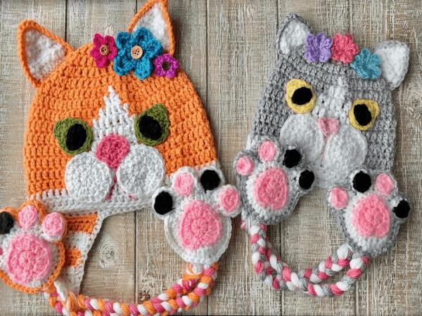 Crochet Kitten Hat Pattern by Fur Babies CB