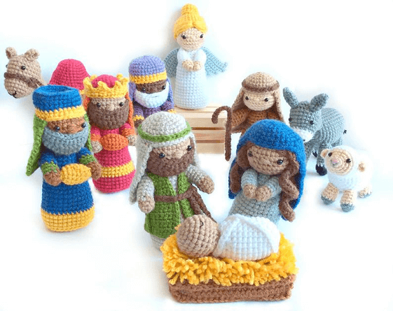 Crochet Nativity Pattern by Crochet To Play