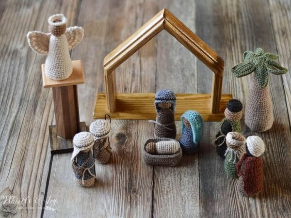 Crochet Nativity Set Pattern by Whistle And Ivy