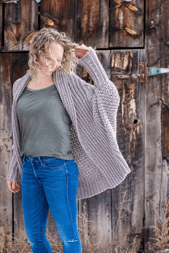 Crochet Oversized Sweater Pattern by Make And Do Crew