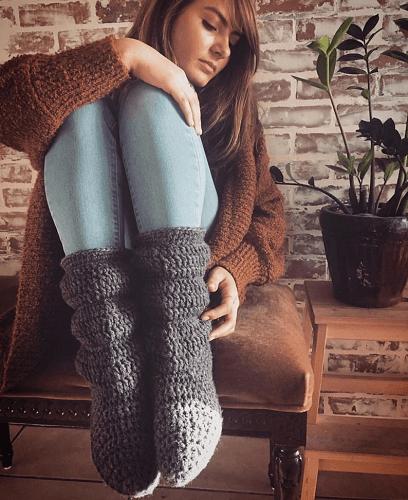 Crochet Slipper Boots Pattern by Wildcroft