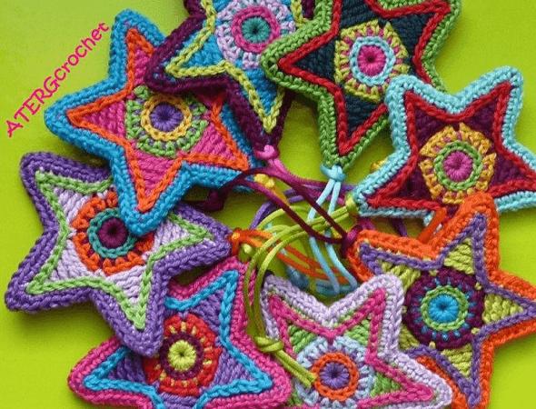 Crochet Star Pattern by ATERG Crochet
