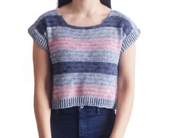 Crochet Striped Tshirt Pattern by For The Frills