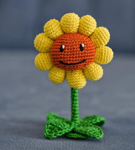 Crochet Sunflower Amigurumi Pattern by Aradiya Toys