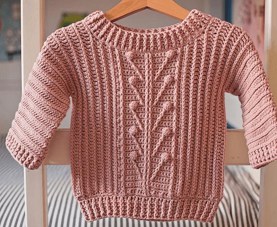 Crochet Winter Garden Sweater Pattern by Mon Petit Violon