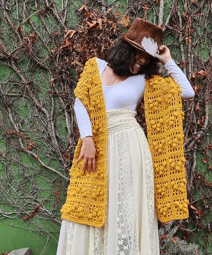 Crochet Winter Scarf Pattern by Maya Luna Corazon
